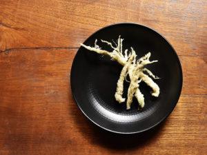 わさびの根の天ぷら